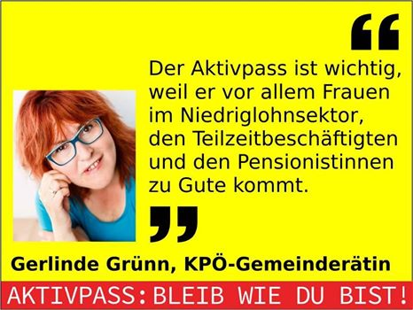 Statement Gerlinde Grünn